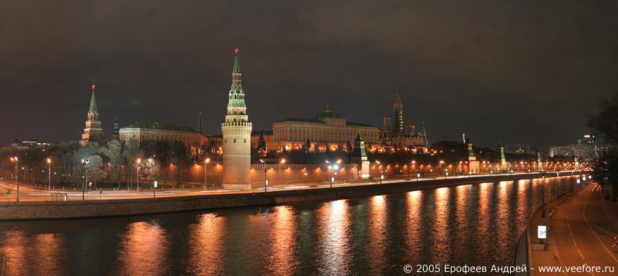 Москва река вечерняя панорама