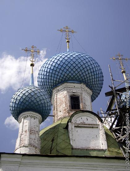 Купола собора Сретения Владимирской иконы Бодьей Матери